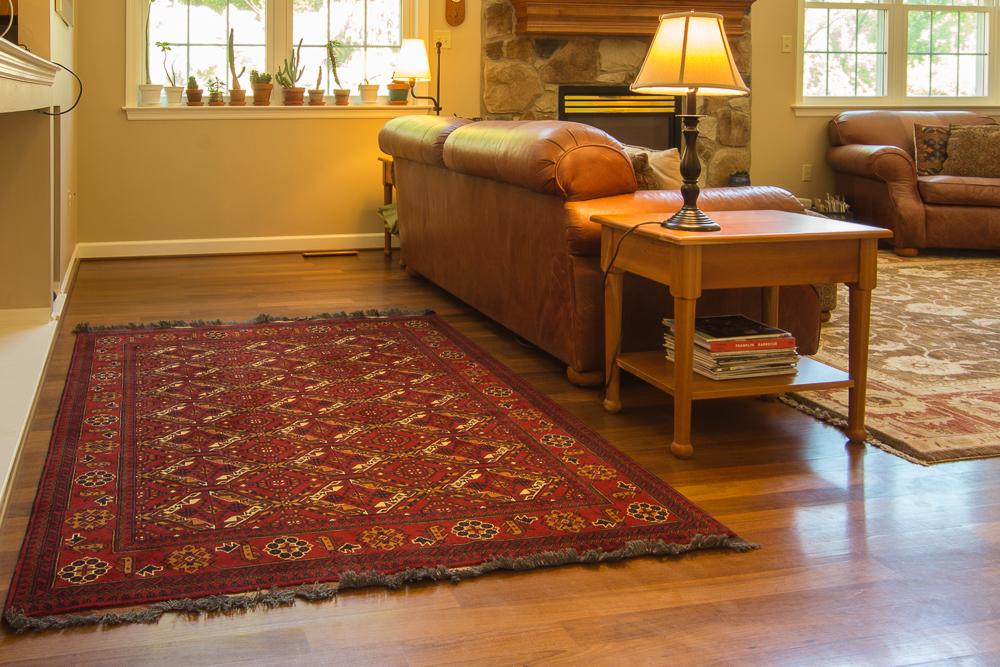 Bunyaad rug in home