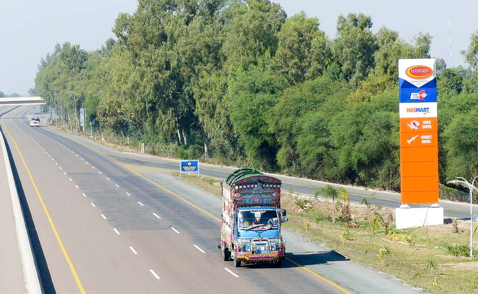 The M2 Motorway between Lahore and Islamabad.