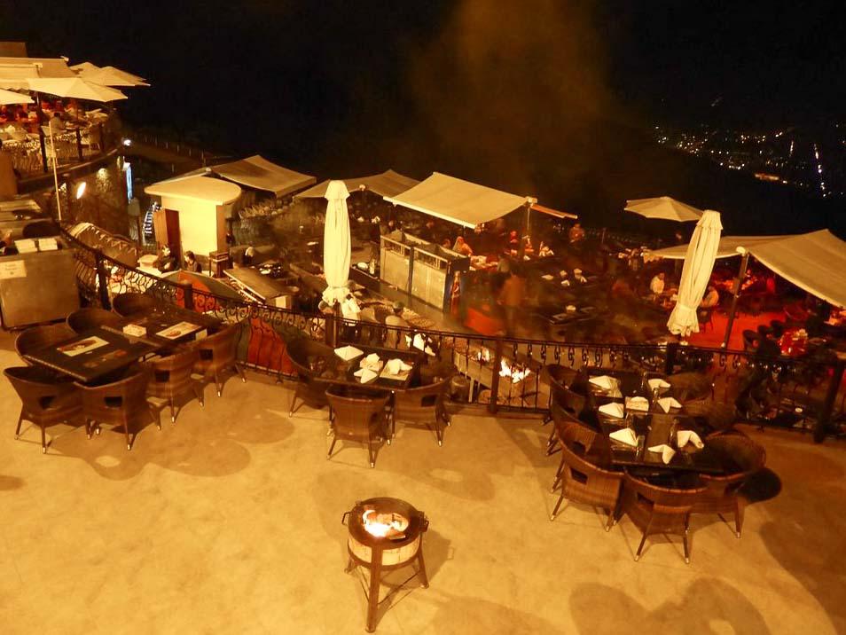 Monal restaurant overlooking Islamabad.
