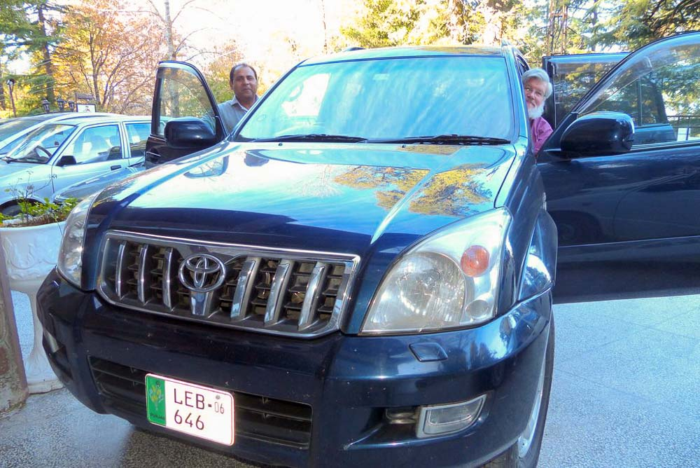 Ehsan, the driver, and Doug, riding shotgun
