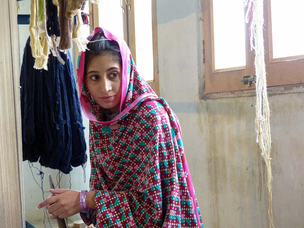 Hajira, one of the young women receiving training at the center.