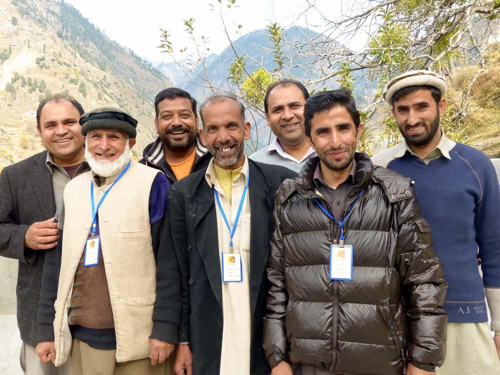 On the roof of the Training Center: Yousaf, Ghullam Mohammad, Afaq, Haleem, Ehsan, Hafeez, Ghullam Rehman.
