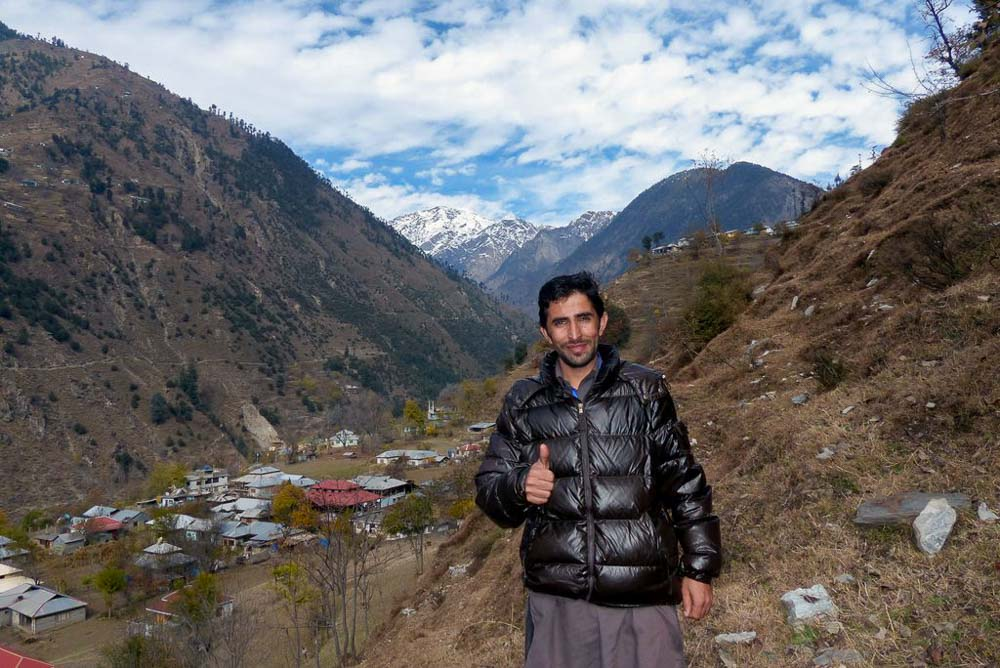 Hafeez took me on a short hike to get the best view of the mountains from a farm above the training center.