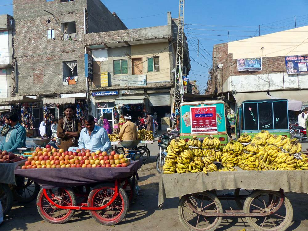 Fruit sellers in Lahore.