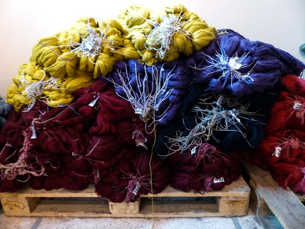 More dyed wool. Bunyaad currently has 397 shades of color in stock.