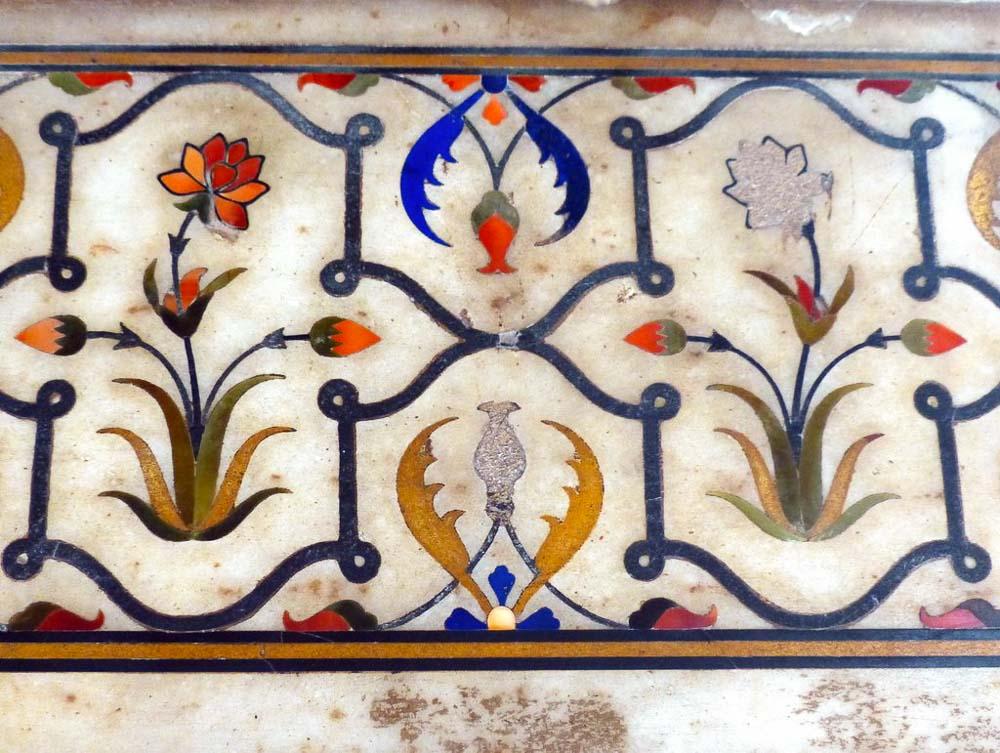 More inlaid semi-precious stones at the Lahore Fort.