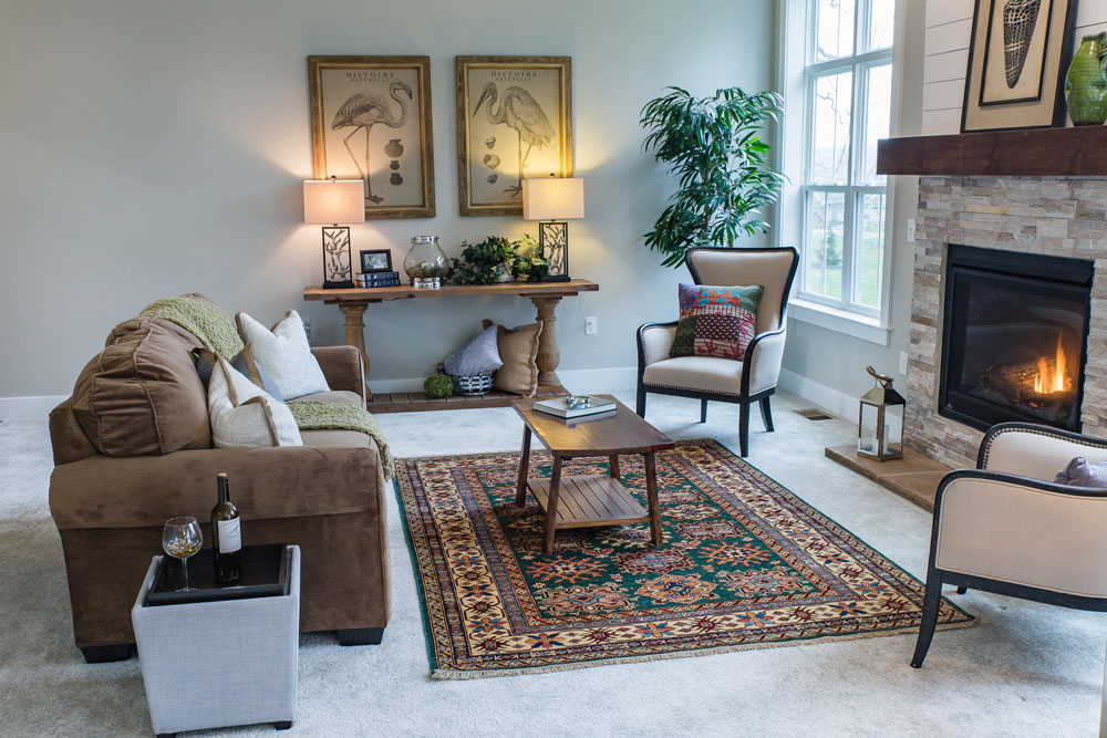 Bunyaad Kazak rug at Landmark Homes