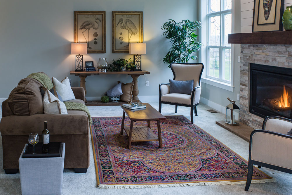 Bunyaad Persian rug at Landmark Homes