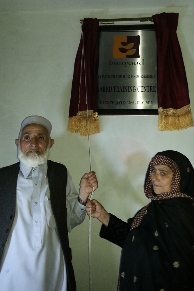 Ghullam-and-wife-unveiling-Centre-plague-at-grand-opening