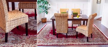 Bunyaad Persian rug in dining room