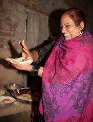 Bunyaad artisan Arshad kneads Roti