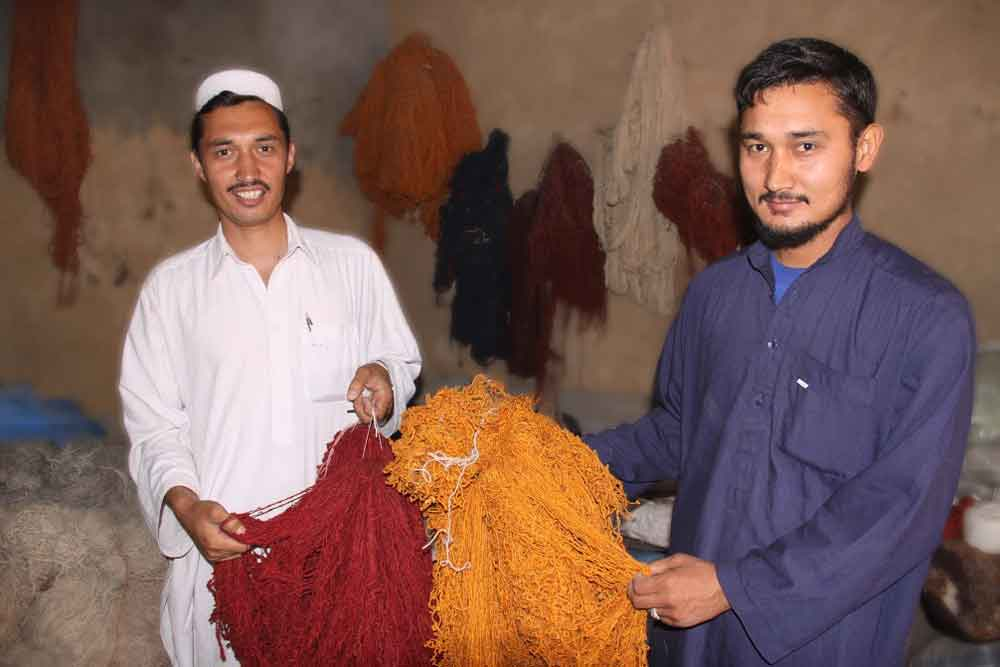Abdul Khaliq and Abdul Razaq know what natural ingredients and dyeing techniques are needed to get these brilliant colors.
