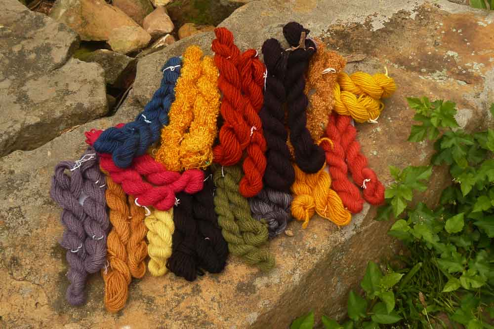 We were only dyeing wool in one pound bundles. One pound.