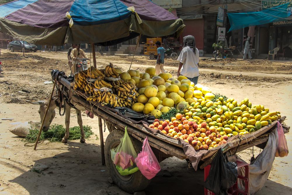 Fruit seller cart