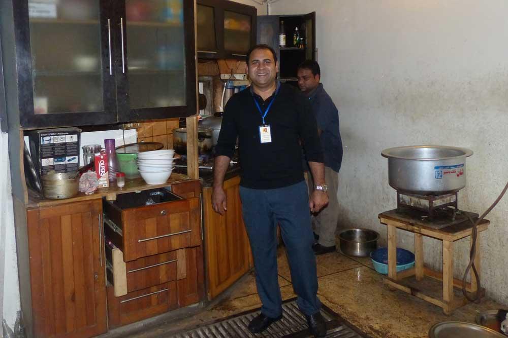 Ehsan prepares lunch