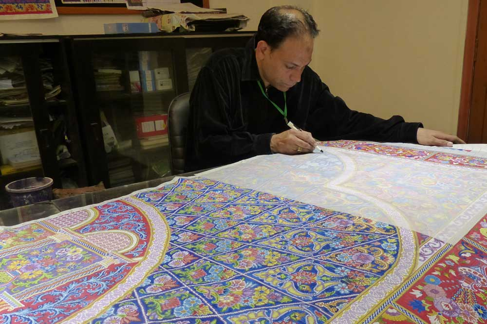 Coloring the rug graph