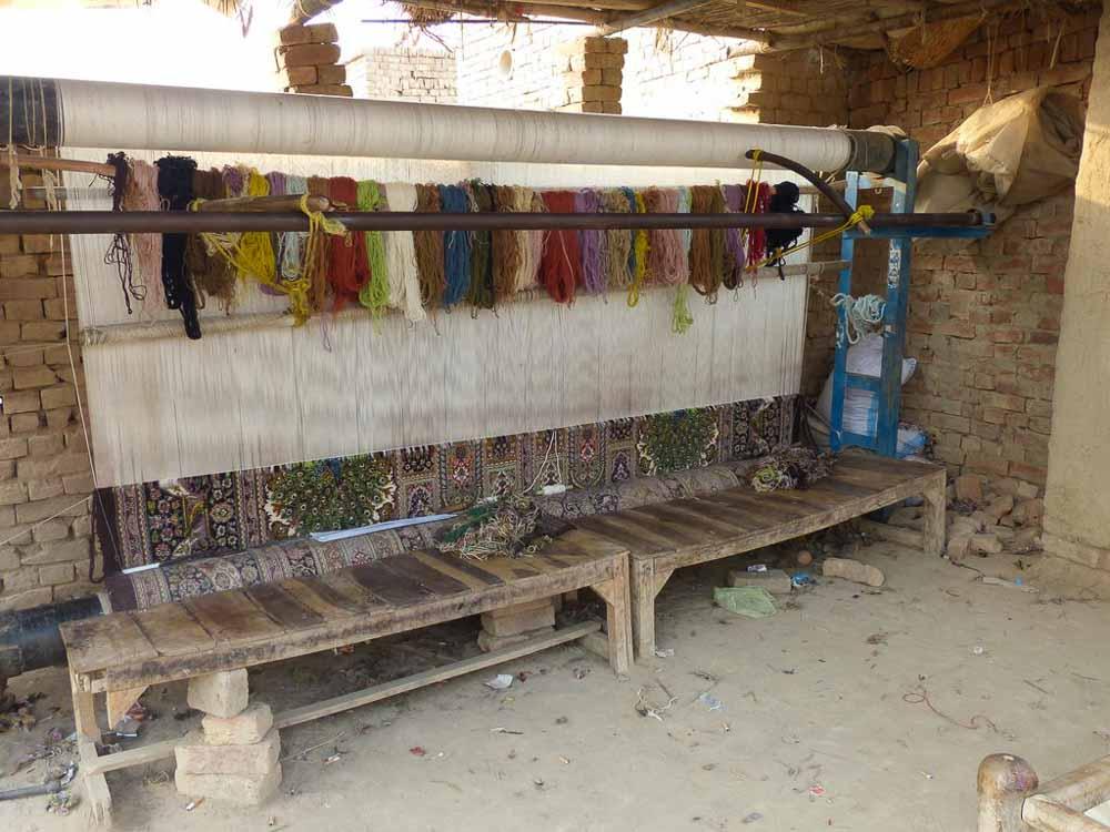 Rasoom's rug loom.