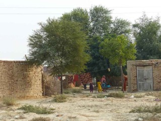 Typical home in Chistian, Pakistan.
