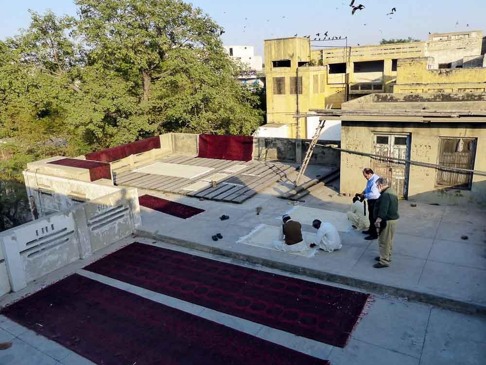 Yousaf and Doug on the roof at Wajid's