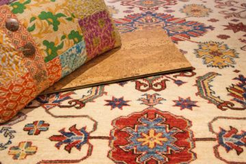 Matching patterns on rug & fabric