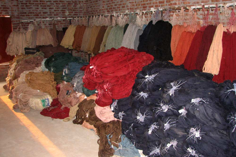 Dyeing The Wool Fair Trade Bunyaad Rugsfair Trade
