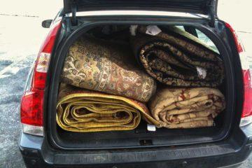 Rugs fit in car