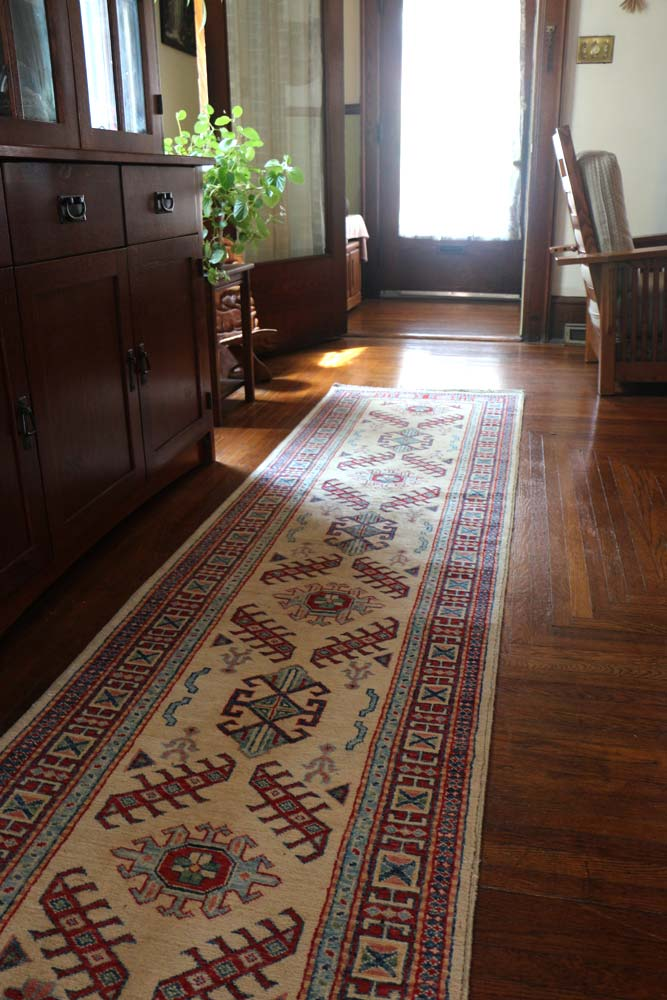 What Size Should Foyer Rug Be : Foyer hallway fair trade bunyaad rugs