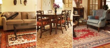 Rugs in three different rooms